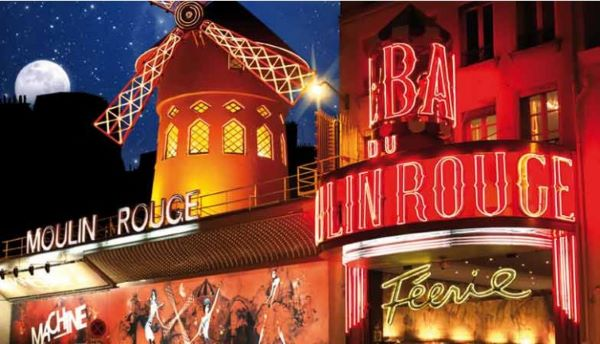 パリのイルミネーションツアーとムーランルージュのショー