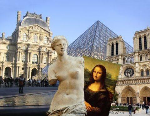 ルーヴル美術館&ノートルダム大聖堂見学と世界遺産セーヌ河岸散策