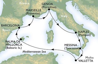 客船ポエジアで行く地中海ぐるり一周7泊8日