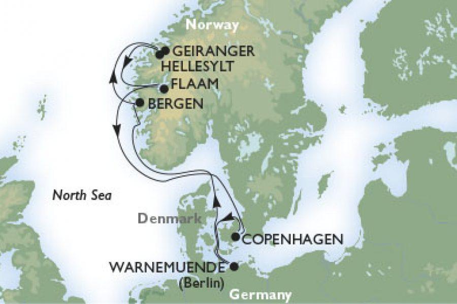 客船マニフィカで行くノルウェー・フィヨルド8日間