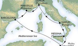 客船メラビリアで行く地中海クルーズ7泊8日