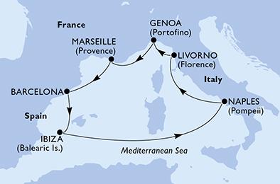 MSCディヴィーナで行く地中海7泊8日