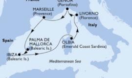 MSCオペラで行く夏の地中海7泊8日