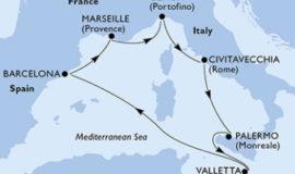 MSCメラビリアで行く春の地中海クルーズ7泊8日