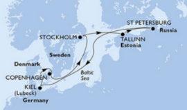 MSCプレツィオーザで行く北欧ロシア8日間