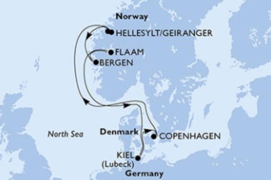 5月~7月出発限定。MSCプレツィオーザで行く北欧フィヨルドクルーズ