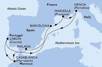 2018年秋MSCプレツィオーザで行く地中海と大西洋9泊10日