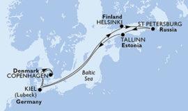 MSCメラビリアで巡る北欧ロシア8日間