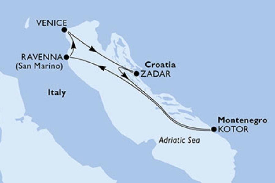 4月4日ヴェネツィア発限定MSCリリカ4泊5日クルーズ